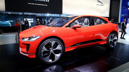 Jaguar I-Pace Concept is red and ready for Euro debut