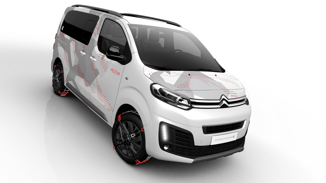 citroen spacetourer concept is a 4x4 minivan for outdoorsy people. Black Bedroom Furniture Sets. Home Design Ideas