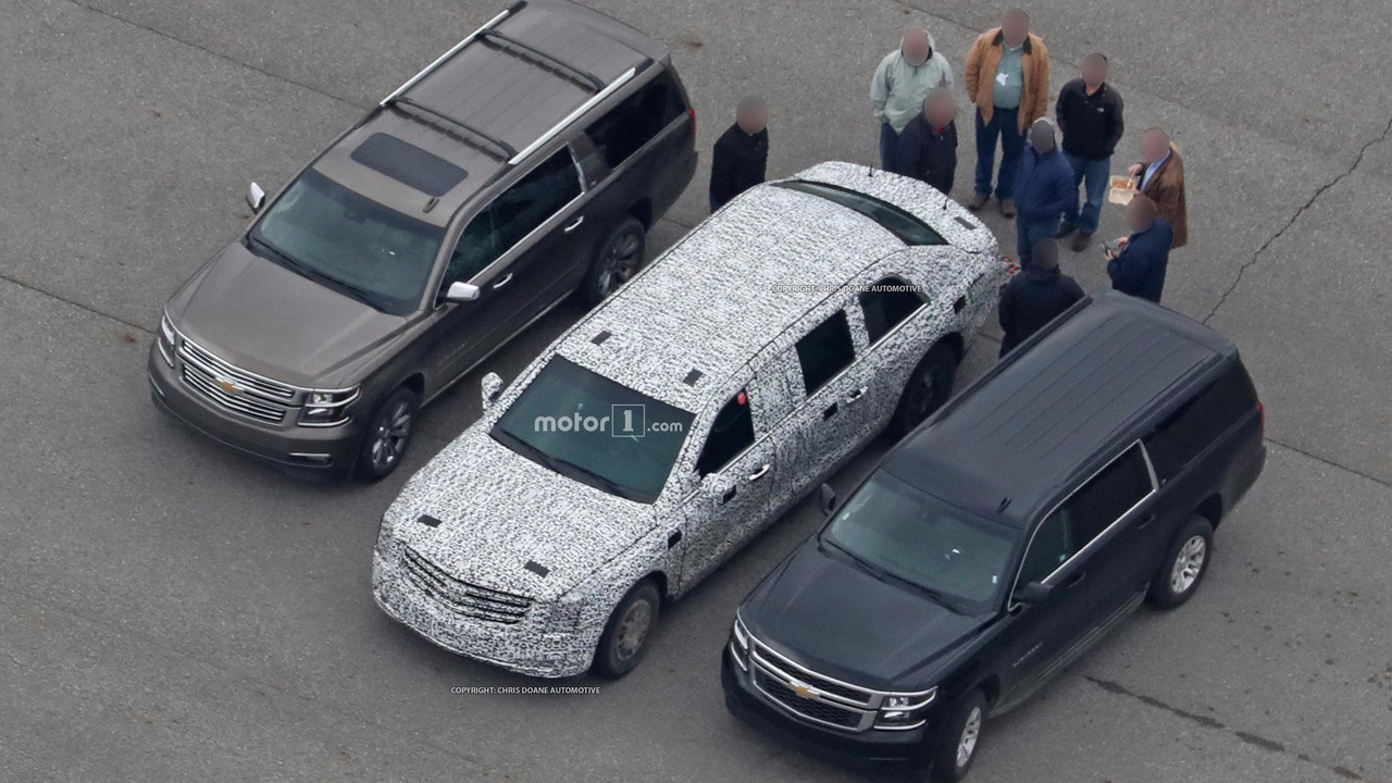 Cadillac Presidential Limo Spy Photos