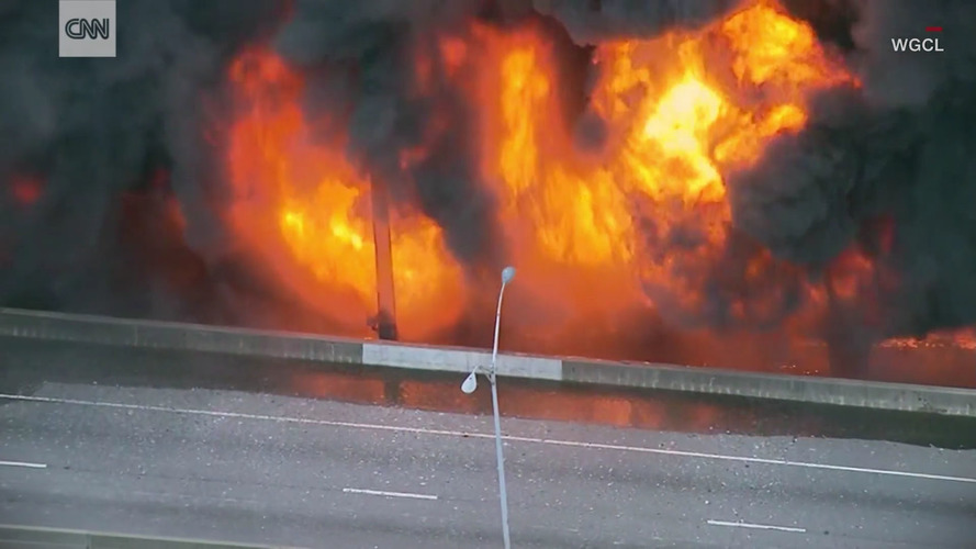3 Charged With Setting Atlanta Highway Fire, Maybe Smoking Crack
