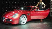 Alfa Romeo 8C Competizione at Paris Motor Show
