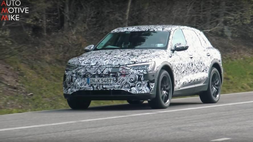 VIDÉO - La nouvelle Audi e-tron surprise sur le Nürburgring