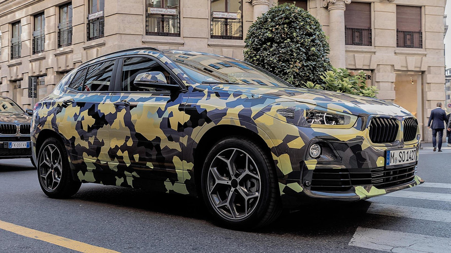 BMW X2 Puts On Digital Camo For A Drive Around Milan