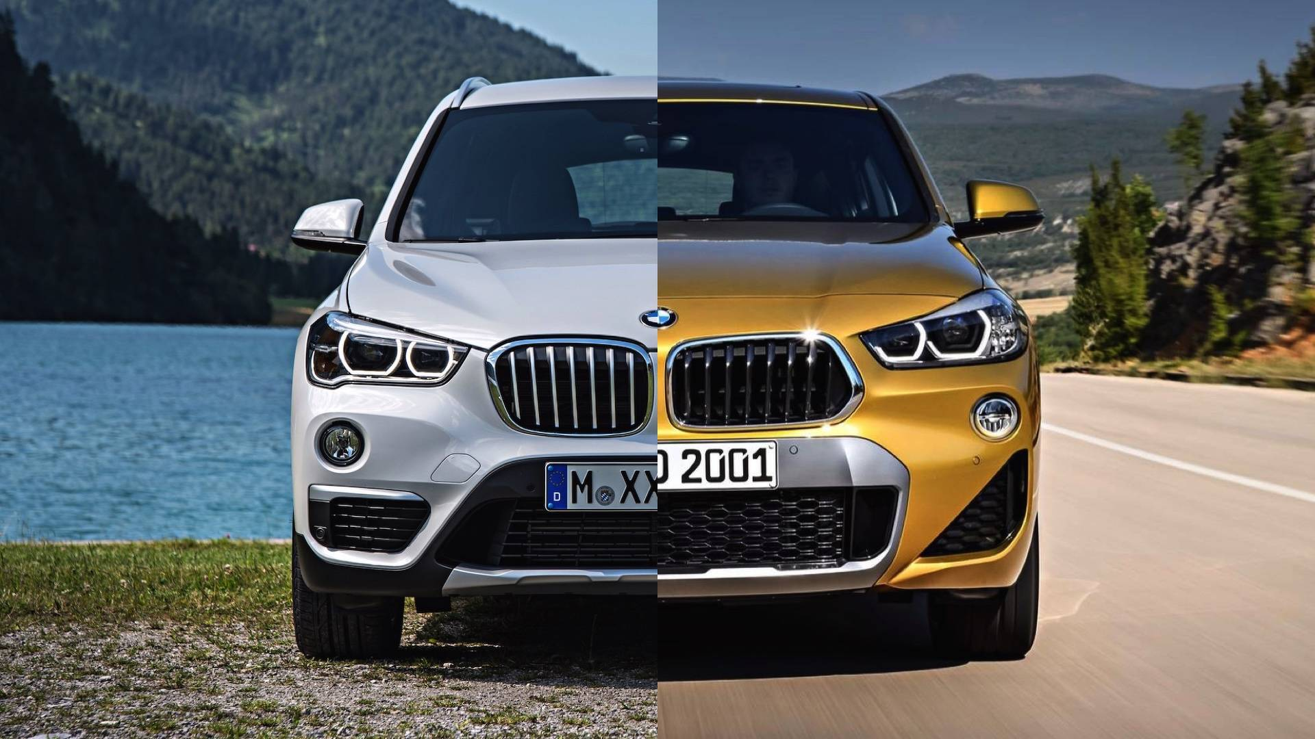 bmw x2 vs bmw x1 see the changes side by side. Black Bedroom Furniture Sets. Home Design Ideas