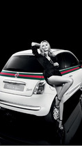 Fiat 500 by Gucci ad with model 19.05.2011