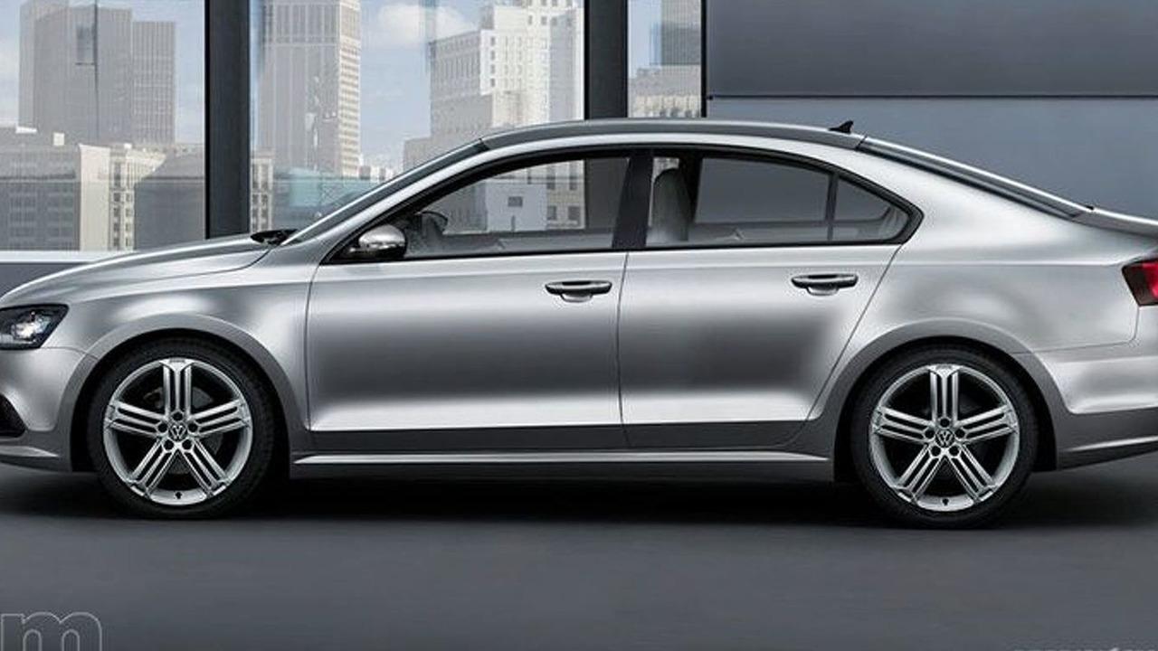 2011 VW Jetta sedan artist rendering