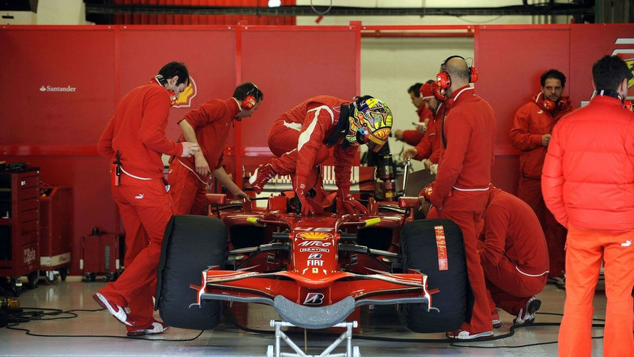 Rossi's Barcelona test begins