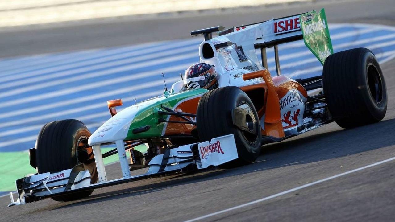 JR Hildebrand (USA), Tests for Force India- Formula 1 Testing, Jerez