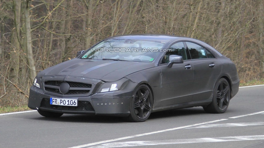 2012 Mercedes CLS 63 AMG Prototype Loses some Disguise