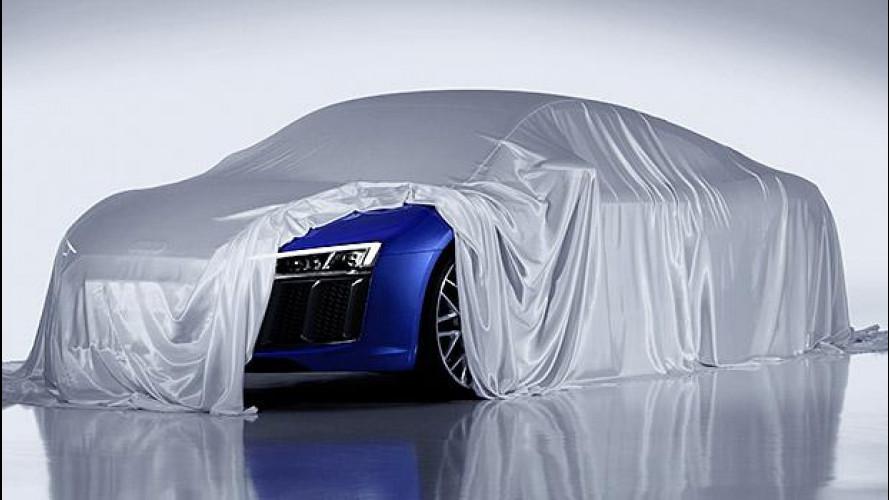 Nuova Audi R8, per ora svela i fari laser