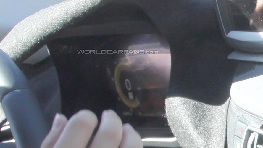 2014 BMW i8 interior cabin spied for the first time