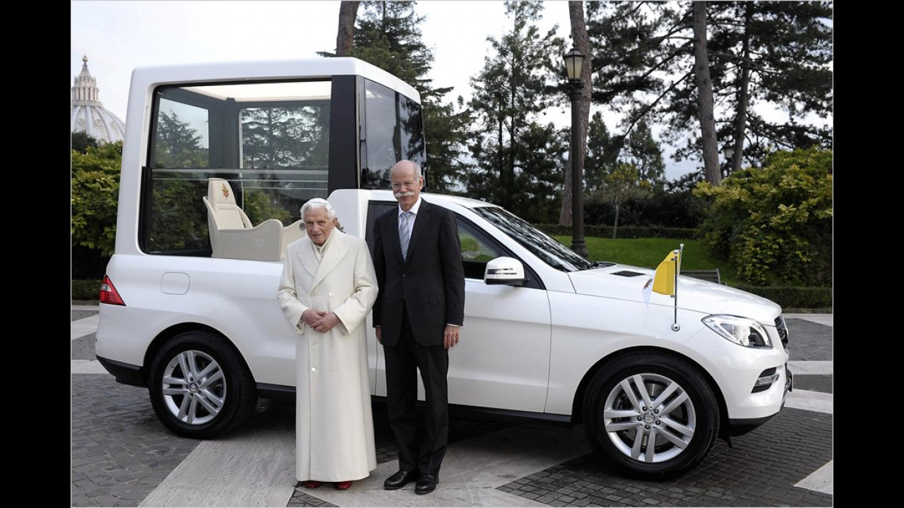 Neues Papamobil für den Pontifex