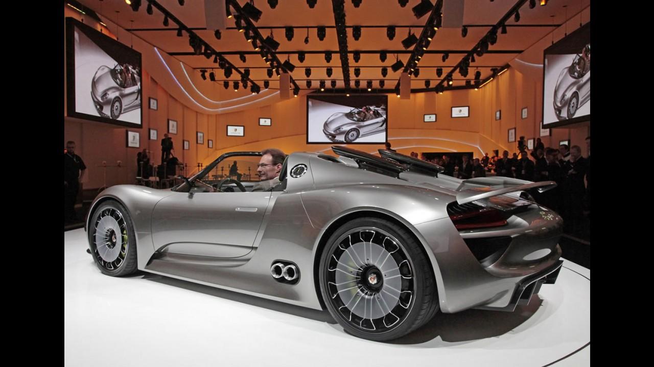 Porsche confirma a produção do híbrido 918 Spyder - Consumo passa dos 30 km/litro