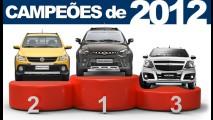 Os campeões de 2012: Veja a lista dos utilitários e comerciais leves mais vendidos