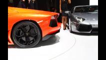 Dentro la Lamborghini Aventador LP700-4 al Salone di Ginevra