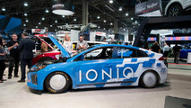 Hyundai Ioniq land speed record car SEMA 2016