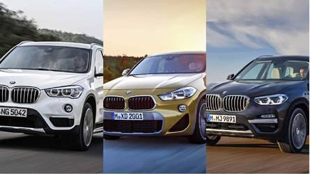 BMW X1 vs X2 vs X3 – head to head by numbers