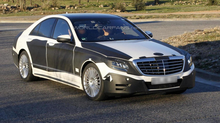 2013 Mercedes-Benz S-Class spied showing more skin