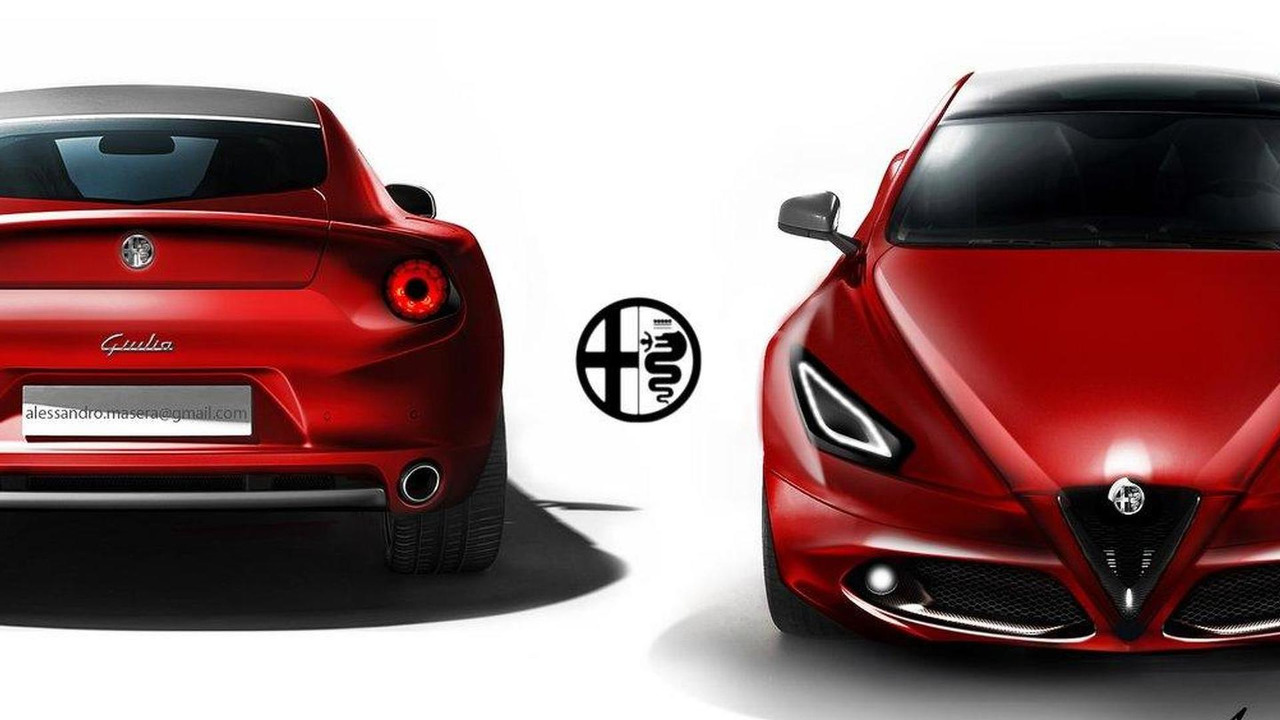 Alfa Romeo Giulia speculative renderings