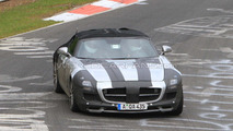 Mercedes SLS AMG Cabriolet spy photo, Nurburgring Nordschleife, Germany 21.05.2010