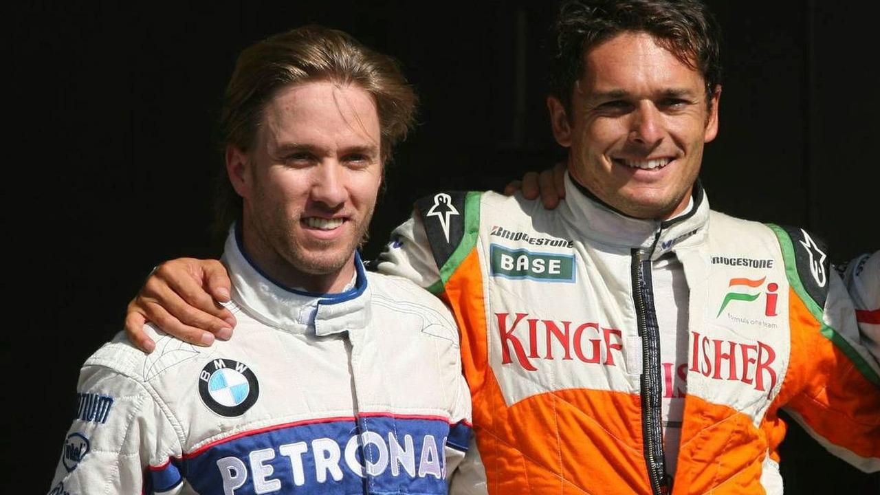 Nick Heidfeld (GER), Giancarlo Fisichella (ITA), Belgian Grand Prix, Saturday Qualifying, 29.08.2009 Francorchamps, Belgium