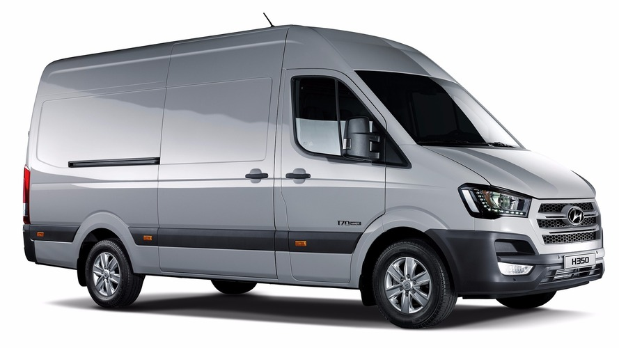 Hyundai H350 Fuel Cell Concept minibüsü 422 kilometre menziliyle tanıtıldı