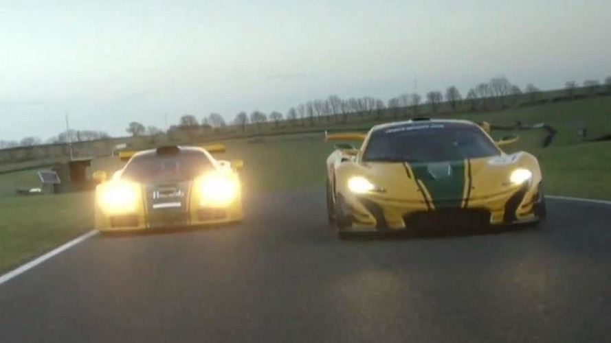 McLaren P1 GTR and F1 GTR duel on track [video]