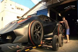Man Builds Lamborghini From Scraps, In Kyrgyzstan