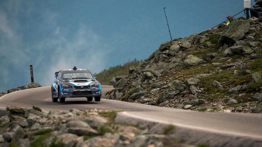 Subaru WRX STI subida al monte Washington
