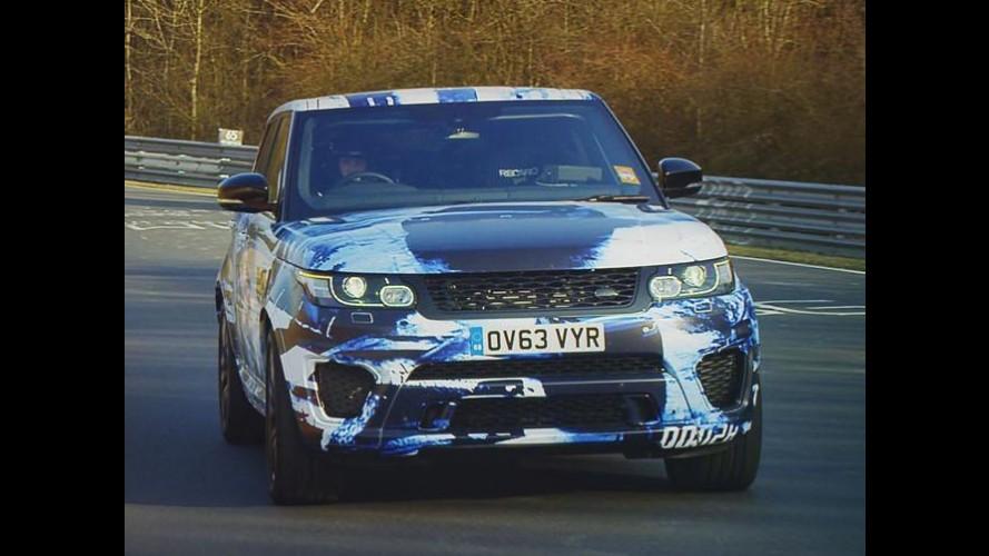 Vídeo: Range Rover Sport SVR com V8 de 550 cv em testes em Nürburgring