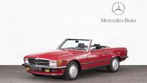 1988 Mercedes-Benz 500 SL cabriolet à toit rigide
