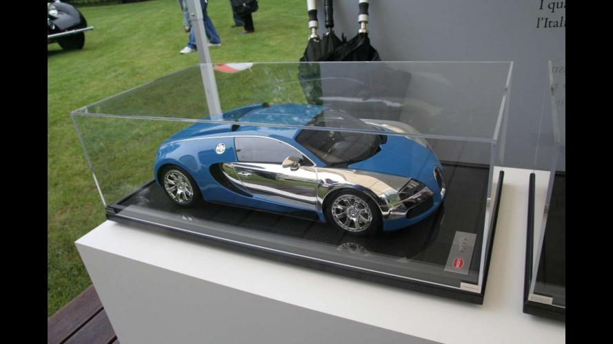 Le quattro Bugatti Veyron del Centenario