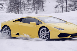 Learn How To Drive Lamborghinis on Snow and Ice