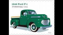 Picape mais vendida do mundo, Ford Série F é homenageada com selos postais
