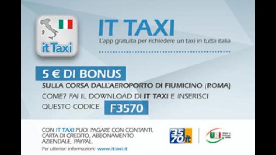 IT Taxi lancia una promo su Roma Fiumicino