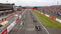 Beginning of the 2009 British Grand Prix at Silverstone