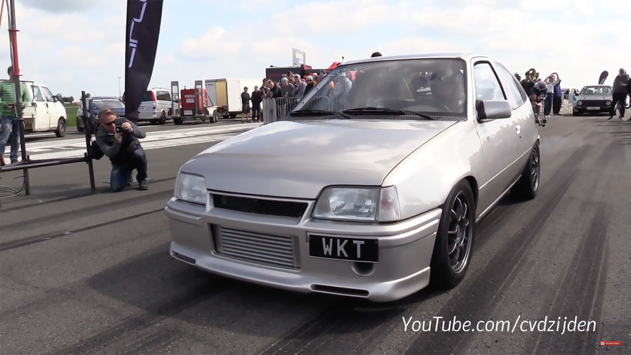 Watch A 1,250-HP Opel Kadett Hit 195 MPH In Half-Mile Sprint