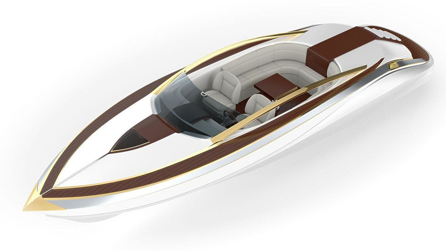 Zeus Twelve Gold & White Collection revealed as a matching boat, sports car, motorcycle [video]