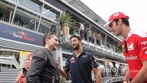 (L to R): Jorge Lorenzo, Moto GP Rider with Daniel Ricciardo, Red Bull Racing and Jean-Eric Vergne, Ferrari Test and Development Driver