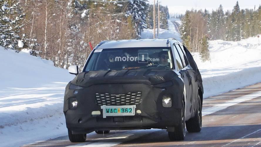 8 koltuklu Hyundai SUV'sinin casus fotoğrafları