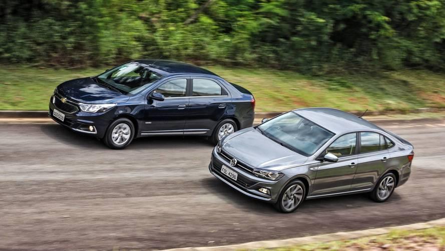 Comparativo VW Virtus Highline TSI x Chevrolet Cobalt Elite - Obrigado pelas referências