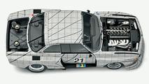 The BMW Art Car by Frank Stella in miniature
