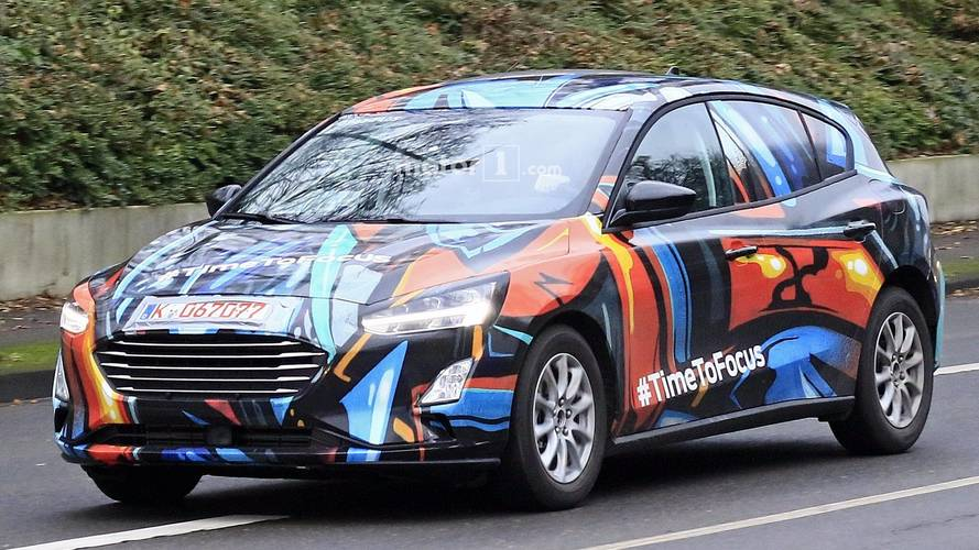 2019 ford focus spied up close with artsy body wrap. Black Bedroom Furniture Sets. Home Design Ideas