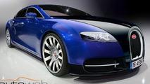 Bugatti Royale sedan artist interpretation rendering