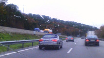 Audi A5 Cabriolet on AP7 highway in Barcelona