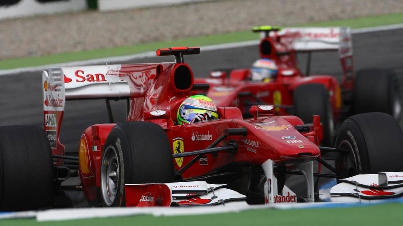 Felipe Massa (BRA), Scuderia Ferrari leads Fernando Alonso (ESP), Scuderia Ferrari - Formula 1 World Championship, Rd 11, German Grand Prix