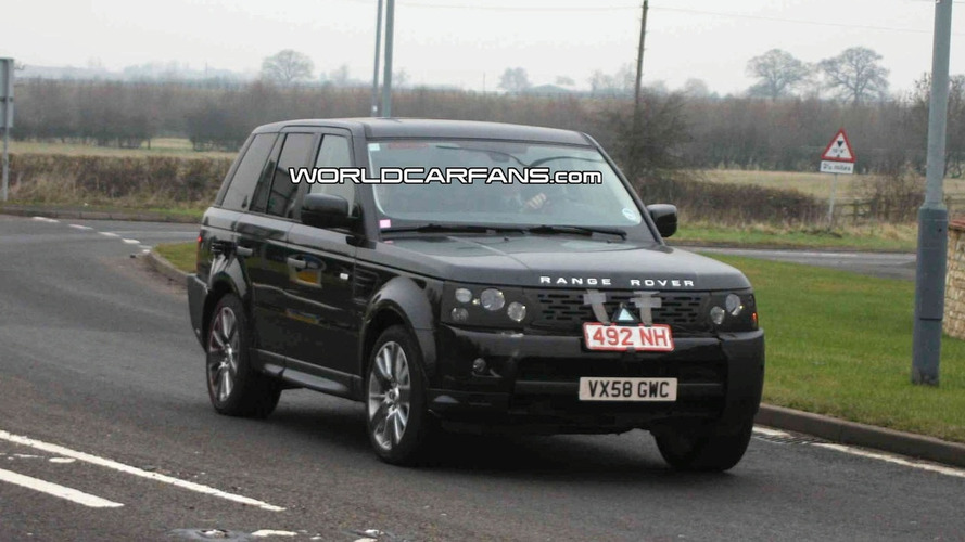 Range Rover Sport facelift spy photos in the UK