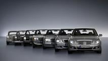 All Mercedes E class Models together