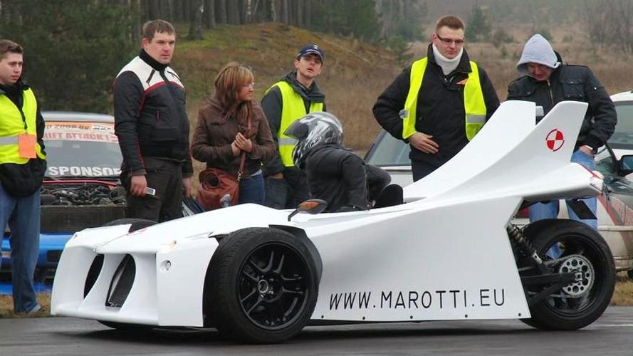 Marotti concept reverse three-wheeler from Poland [video]