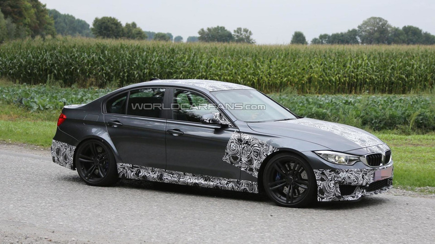 2014 BMW M3 spied wearing less disguise